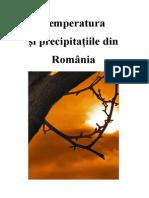 Temperatura Si Precipitatiile Din Romania