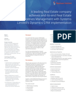 Real Estate Processes Management Case Study