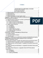 Analiza Pozitiei Finanicare a Companiilor Din Industria Farmaceutica Listate Si Tranzactionate La BVB