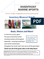 Riverfront Marine's September Newsletter