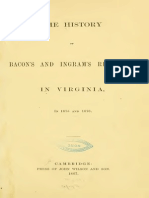 The History of Bacons and Ingrams Rebellion