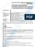 NBR 6024 - Inform. e Doc - Numeração progressiva das seções de um documento escrito - Apresentação