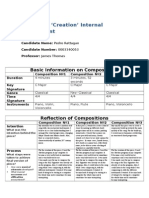 Music IB Compositions Cover Sheet