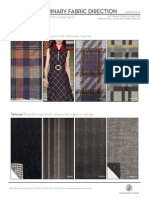 Fall/Winter 2016 Preliminary Fabric Direction