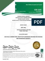 ICC ESR-1545 for HSL-3 Heavy Duty Expansion Anchors Approval Document ASSET DOC LOC 11