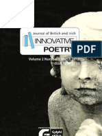 Journal of British and Irish Innovative Poetry 2(1) - Contents and Abstracts