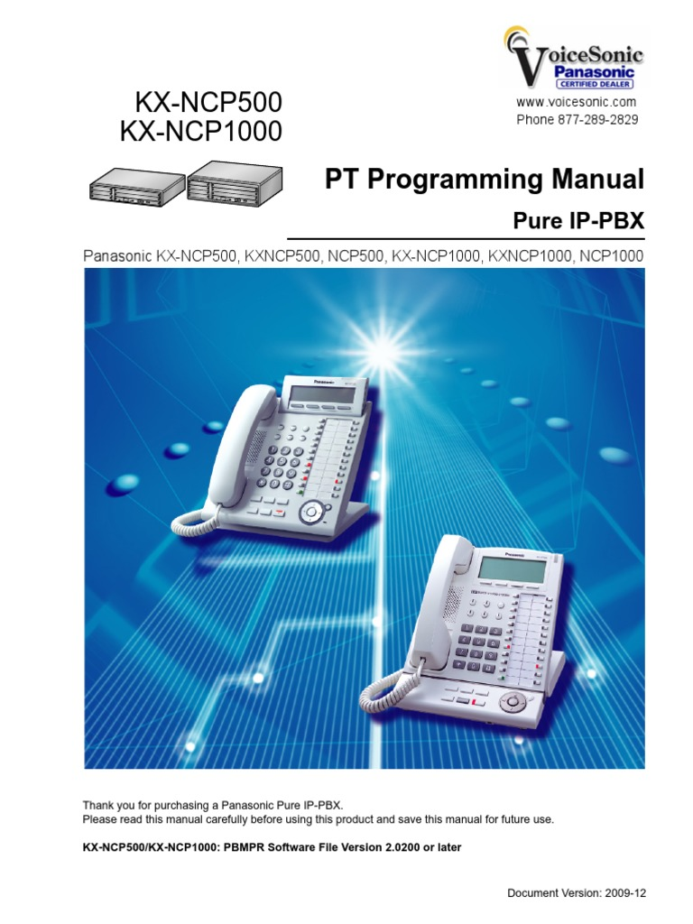 ncp panasonic digital phone programming manual personal rh scribd com panasonic ncp500 installation manual panasonic ncp500 user manual