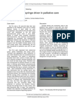 The Safe Use of Syringe Driver in Palliative Care