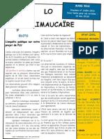 Prochain n° JUIN 2010 Date Limite Pour