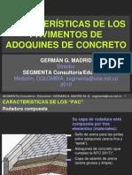 MADRID, Germán G. Características de Los Pavimentos Adoquines
