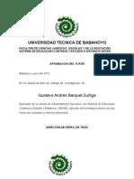 Tesis de Gustavo Barquet Sobre Administración