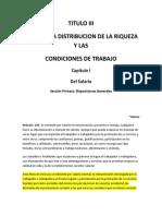 TITULO III LOTTT Pago de Impuestos - Definicion Salario Normal