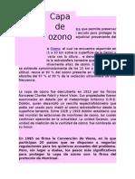 Origen de La Capa de Ozono