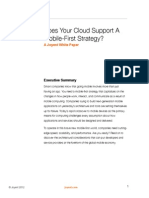 Does Your Cloud Support a Mobile First Strategy