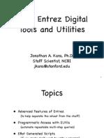 Entrez Digital Tools and Utilities