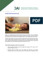 Artikel IDAI Perawatan Kulit Anak
