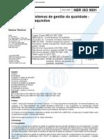 NBR ISO 9001 - Sistemas de gestão da qualidade - Requisitos