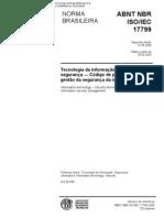 NBR ISO/IEC 17799 - Tec da Inf - Téc de Seg - Cód. de Prática para a Gest da Seg da Informação