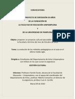 CONVOCATORIAeducacion Gesrtion Cultural