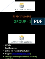 TSPSC SYLLABUS Group 1