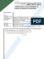 ABNT ISO/TR 10013 Diretrizes para a Documentacao de Sistema de Gestao Da Qualidade