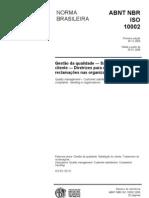 Abnt Nbr Iso 10002-2005 Gestão Da Qualidade - Satisfação Do Cliente