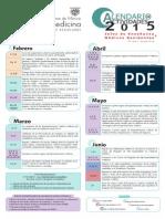 Calendario Actividades 2015 UNAM