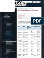 Alchemical Items & Poisons - Eberron Pathfinder
