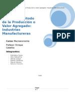 PBI por el Método de la Producción o Valor Agregado