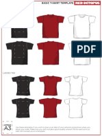 Red Octopus Tee Template