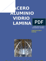 Aluminio, Vidrio, Lamina, Acero