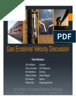 Erosional Gas Velocity