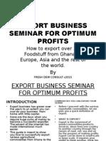 Export Seminar for Beginners 4