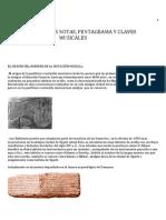 Origen de Las Notas Pentagrama  Clave