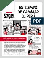 Es tiempo de cambiar el Perú - Frente Amplio