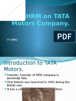 HRM on TATA Motors Company