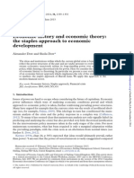 Dow, A., & Dow, S. (2013). Economic History and Economic Theory the Staples Approach to Economic Development. Cambridge Journal of Economics, Bet021.