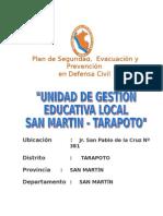 Plan de Seguridad Ugel San Martin