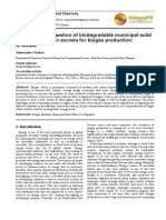 Anaerobic Co-digestion of Biodegradable Municipal Solid