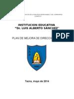 Plan Mejora Direccion 2014