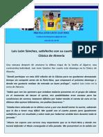 Nota de Prensa Luis Leon Sanchez (28!02!10)
