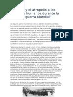 El horror y el atropello a los derechos humanos durante la segunda guerra Mundial.doc