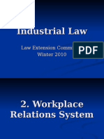 Industrial Law PowerPoint - Workplace Relations Winter 2010_2