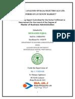 Mudasser's Report on Bajaj Elec Ltd
