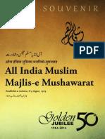 Souvenir of Mushawarat Golden Jubilee Conference, 31 August 2015