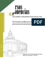 Del Estado Neoliberal Al Estado Plurinacional Autonomico y Productivo de Bolivia