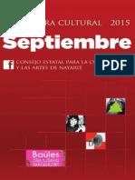 Cartelera Septiembre 2015