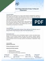 High and Medium Voltage Substation Design, Testing & Maintenance