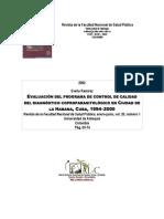 Evaluación del programa de control de calidad de diagnóstico coproparasitológico en Cuidad de la Habana, Cuba, 1994-2000