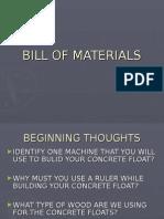 Bill of Materials Unit